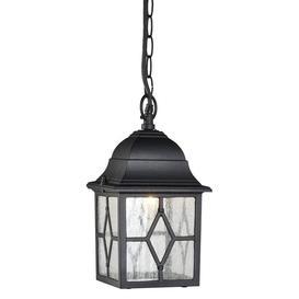 image-Traditional Black Outdoor Hanging Porch Lantern In Aluminium