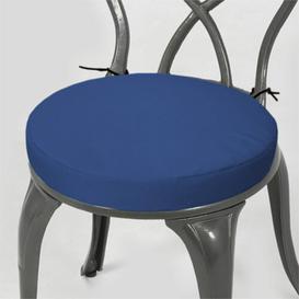 image-Dining Chair Cushion Dakota Fields Colour: Blue, Size: 4cm H x  38cm W x 38cm D