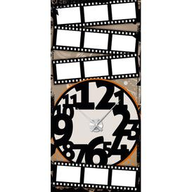 image-Analogue Wall Sticker Clock East Urban Home Paint: Silver