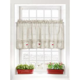 image-Heaton Slot Top Semi Sheer Curtain Brambly Cottage Panel Size: 150 W x 30 D cm, Colour: Beige