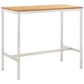 image-Hampartsum Teak Bar Table Sol 72 Outdoor Size: 105cm H x 120cm W x 60cm D