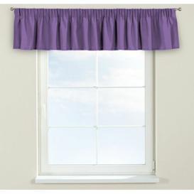 image-Loneta Curtain Pelmet Dekoria Size: 130cm W x 40cm L, Colour: Purple