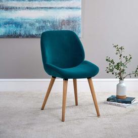 image-Noah Teal Velvet Dining Chair