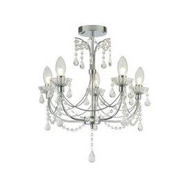image-Autumn 5 Light Bathroom Chandalier With Crystal Ceiling Light