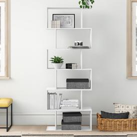 image-Caroline Cube Wooden Bookcase Zipcode Design Colour: White