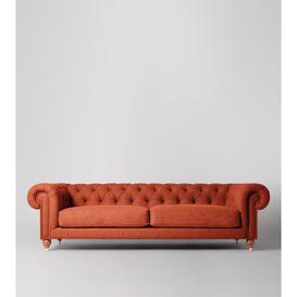 image-Swoon Winston Four-Seater Sofa in Burntorange Soft Wool With Light Feet