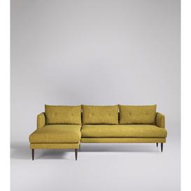 image-Swoon Kalmar Corner Sofa in Mustard Soft Wool With Dark Feet