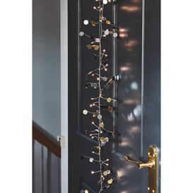 image-Gold Confetti Christmas Garland with Lights