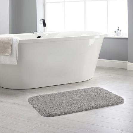 image-Buddy Bath Antibacterial Ghost Grey Bath Mat Grey