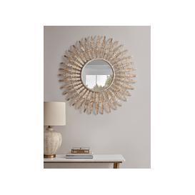 image-Distressed Leaf Edge Mirror