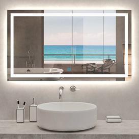 image-Tunnell Fog Free Bathroom Mirror Metro Lane Size: 80cm H x 100cm W