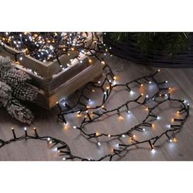 image-300 LED Firefly Outdoor String Light Ice & Warm White 7.5m