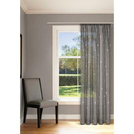 image-Felicia Pencil Pleat Semi Sheer Curtain Brambly Cottage Colour: Anthracite