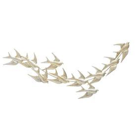 image-Metallic Birds Wall Décor House of Hampton Finish: Gold