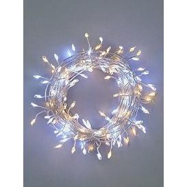image-Festive 160 Silver Sparklebright Dewdrop Christmas Lights - Warm White &Amp White