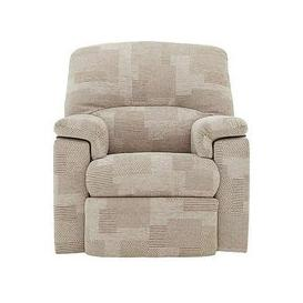 image-G Plan - Chloe Small Fabric Manual Recliner Armchair - Beige
