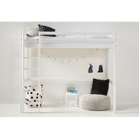 image-Basic European Single High Sleeper Bed Hoppekids Colour (Bed Frame): White