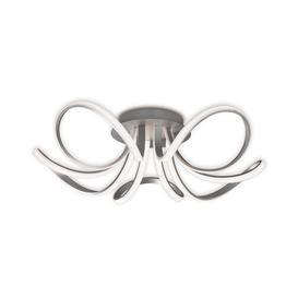 image-M5916 Knot 5 Light LED Semi Flush Ceiling Light In Silver And Chrome
