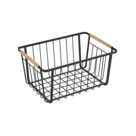 image-Large Black Food Storage Basket Black