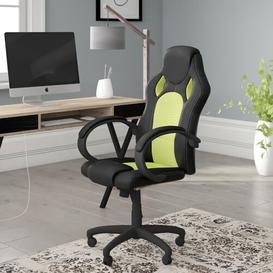 image-Gaming Chair Symple Stuff Colour: Black / Green