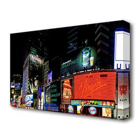 image-'Tokyo City Night Lights Architecture' Photograph Print on Wrapped Canvas East Urban Home Size: 66 cm H x 101.6 cm W