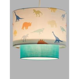 image-little home at John Lewis Dennis Dinosaur 2-Tier Easy-to-Fit Ceiling Shade, Multi