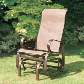 image-Isanti Folding Glider Chair Dakota Fields Frame Finish: Bronze