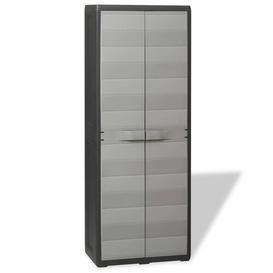 """image-""""171"""""""" H x 65"""""""" W x 38"""""""" D Garden Storage Cabinet Symple Stuff Colour: Black/Grey"""""""