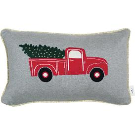 image-Christmas Car 100% Cotton Cushion Cover Tom Tailor