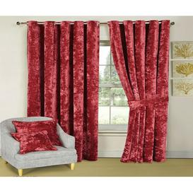 image-Santiago Room Darkening Thermal Curtains Textile Home Panel Size: 168 W x 183 D cm, Colour: Red