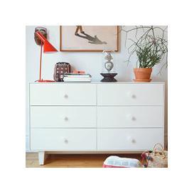 image-Oeuf Rhea 6 Drawer Dresser in White