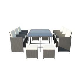 image-Titcomb 10 Seater Dining Set with Cushions Sol 72 Outdoor