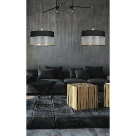 image-Sodermalm 2-Light Drum Chandelier Ebern Designs Base Finish: Black, Shade Colour: Black