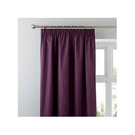image-Solar Aubergine Blackout Pencil Pleat Curtains Aubergine Purple