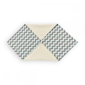 image-Chevron Baby Blanket KraftKids Colour: Light grey and mint