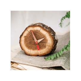 image-Oak Slice Table Clock