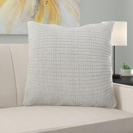 image-Alpine Cushion with filling Ebern Designs Size: Small, Colour: Silver