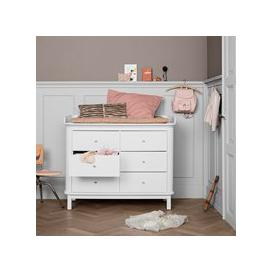 image-Oliver Furniture Contemporary Wood Chest of Drawers in White