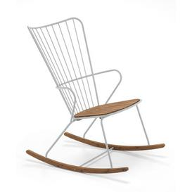 image-Paon Rocking chair - / Metal & bamboo by Houe Beige/Natural wood