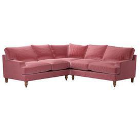 image-Isla Medium Corner Sofa in Dusty Rose Cotton Matt Velvet