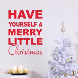 image-Have Yourself a Merry Little Christmas Wall Sticker East Urban Home Colour: Light Grey