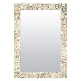 image-Wall Mirror Bloomsbury Market Size: 58cm H x 148cm W, Finish: Silver/White, Mirror: Without facets
