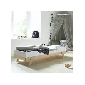 image-Lifetime Toddler Bed in White & Birch