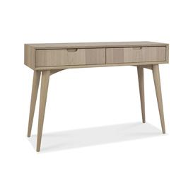 image-Bentley Designs Dansk Oak Furniture Console Table with Drawers