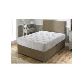 "image-Bed Butler Pocket Royal Comfort 3000 Divan Set - Double (4'6"" x 6'3\""), Medium, 4 Drawers, Hyder_Hercules Silver"