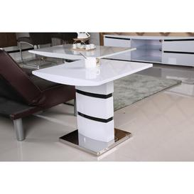 image-Tannen High Gloss Side Table Metro Lane