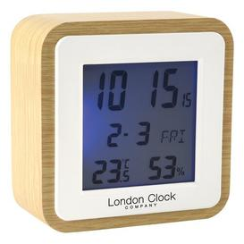 image-Digital Alarm Tabletop Clock London Clock Company Finish: Beige