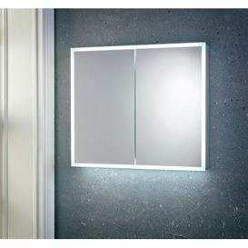image-Southfield Surface Mount Mirror Cabinet with LED Lighting Ivy Bronx Size: 70cm H x 80cm W x 13.5cm D