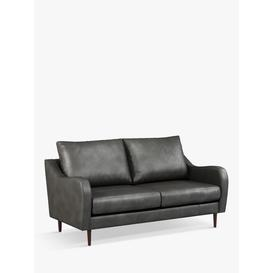 image-John Lewis & Partners Harp High Back Large 3 Seater Leather Sofa, Dark Leg