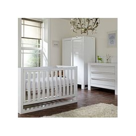 image-Tutti Bambini Rimini Cot Bed 3 Piece Nursery Set in White with Optional Free Mattress